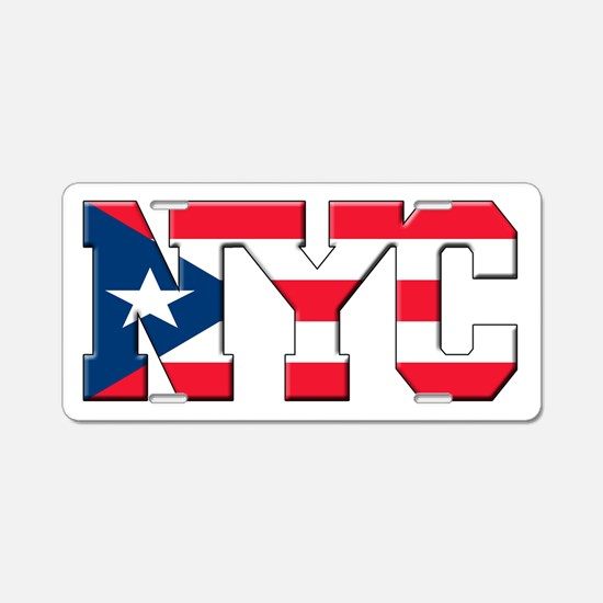 New York Puerto Rican Aluminum License Plate