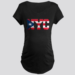 New York Puerto Rican Maternity Dark T-Shirt