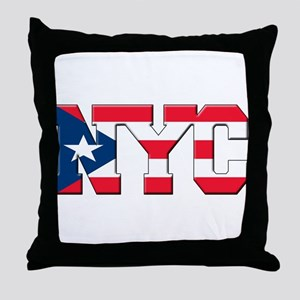 New York Puerto Rican Throw Pillow