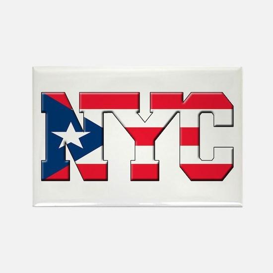 New York Puerto Rican Rectangle Magnet