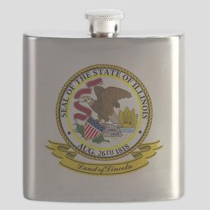 Illinois Seal Flask