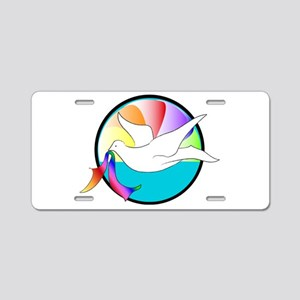 Dove of Love Aluminum License Plate