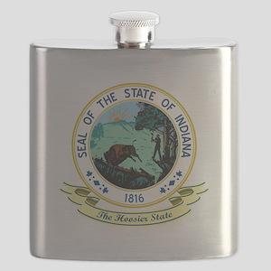 Indiana Seal Flask