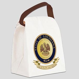 Louisiana Seal Canvas Lunch Bag