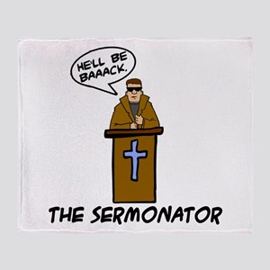 The Sermonator Throw Blanket
