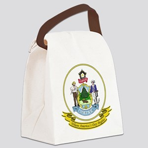 Maine Seal Canvas Lunch Bag