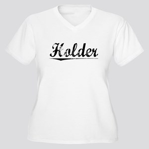 Holder, Vintage Women's Plus Size V-Neck T-Shirt