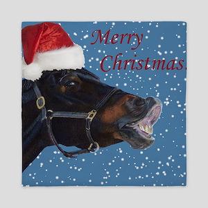 Fun Christmas Horse Queen Duvet