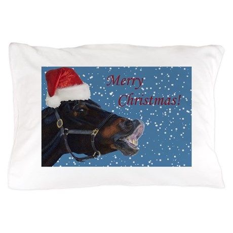 Fun Christmas Horse Pillow Case By Pattyspetart