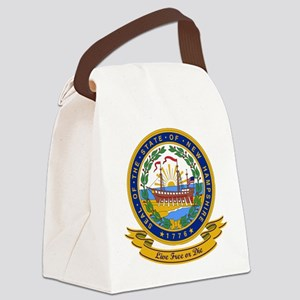 New Hampshire Seal Canvas Lunch Bag