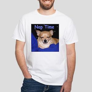 "Chihuahua ""Nap Time"" White T-Shirt"