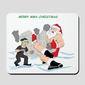 MMA Santa Vs Snowmonster Mousepad