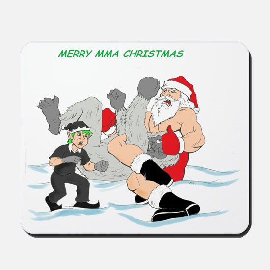 MMA Santa Vs Snowmonster Mousepad