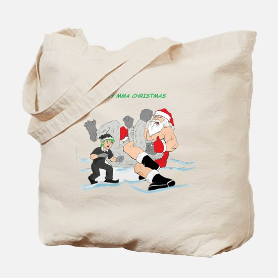 MMA Santa Vs Snowmonster Tote Bag