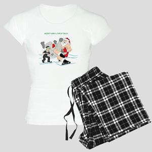 MMA Santa Vs Snowmonster Women's Light Pajamas