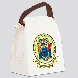 New Jersey Seal Canvas Lunch Bag