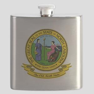North Carolina Seal Flask