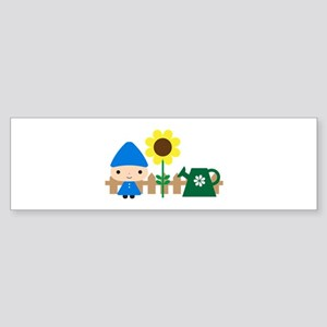 Gnome in the Garden Sticker (Bumper)