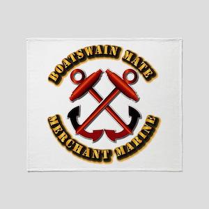 USMM - Boatswain Mate Throw Blanket