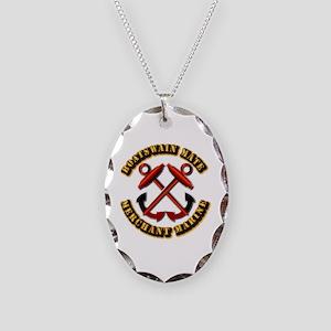USMM - Boatswain Mate Necklace Oval Charm