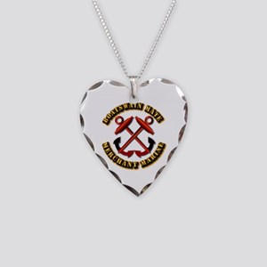 USMM - Boatswain Mate Necklace Heart Charm