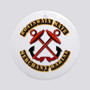 USMM - Boatswain Mate Ornament (Round)