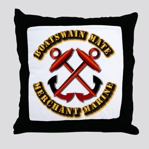 USMM - Boatswain Mate Throw Pillow