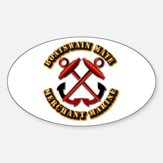 USMM - Boatswain Mate Sticker (Oval)