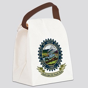 South Dakota Seal Canvas Lunch Bag