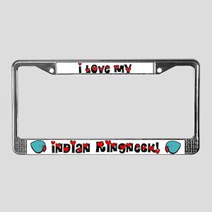 Anime Blue IR License Plate Frame