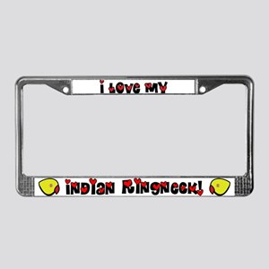 Anime Lutino Indian Ringneck License Plate Frame