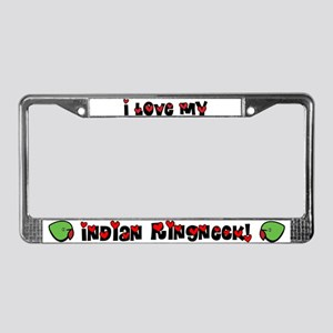 Anime Indian Ringneck License Plate Frame
