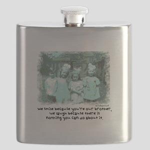Little Girl and Firetruck Flask