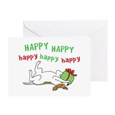 Happy Holiday Jack Russell Greeting Card