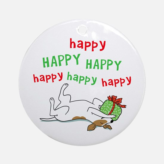 Happy Holiday Jack Russell Ornament (Round)