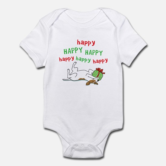 Happy Holiday Jack Russell Infant Bodysuit