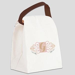 gCOOLMONOGRAM Canvas Lunch Bag