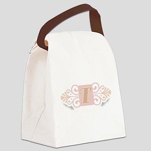 TCOOLMONOGRAM Canvas Lunch Bag