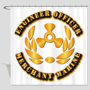 USMM - Engineer Officer Shower Curtain