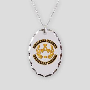 USMM - Engineer Officer Necklace Oval Charm