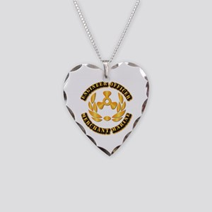 USMM - Engineer Officer Necklace Heart Charm