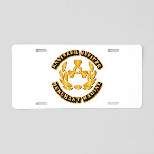 USMM - Engineer Officer Aluminum License Plate