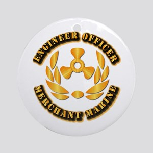 USMM - Engineer Officer Ornament (Round)
