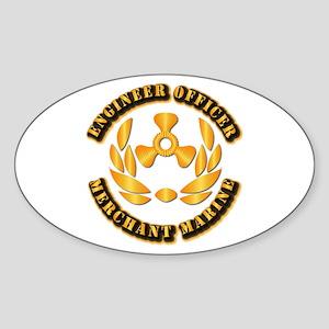 USMM - Engineer Officer Sticker (Oval)