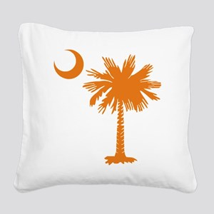 SC Palmetto Crescent (2) orange Square Canvas