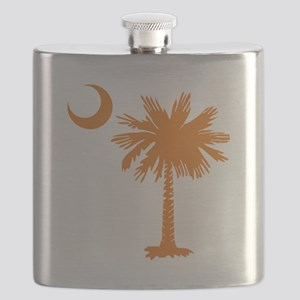 SC Palmetto Crescent (2) orange Flask