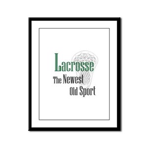 Lacrosse The Newest Old Sport Framed Panel Print