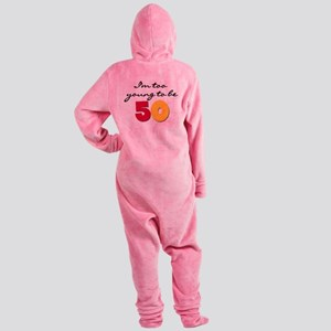 YOUNGBE50 Footed Pajamas