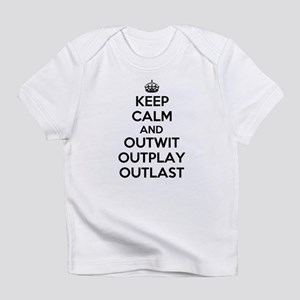 Keep Calm and Outwit, Outplay, Outlast Infant T-Sh