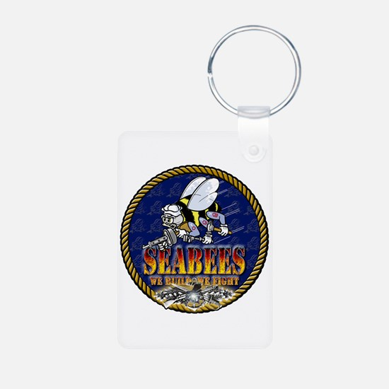 US Navy Seabees Lava Glow Keychains